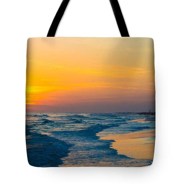 Siesta Key Sunset Walk Tote Bag