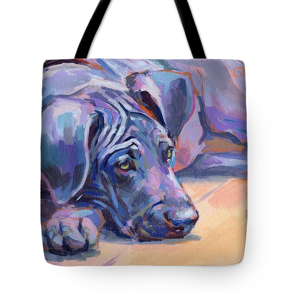 Sigh Tote Bag by Kimberly Santini