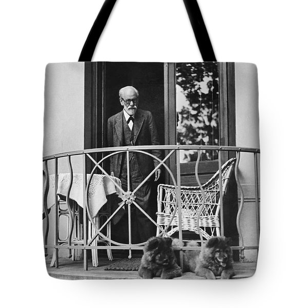 Sigmund Freud With His Chows Tote Bag