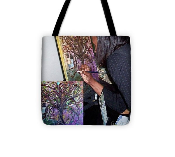 Signing The Tree With Jackie Joyner- Kersee  Tote Bag by Eloise Schneider