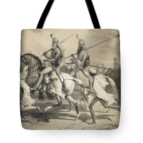 Sikh Chieftans Going Hunting Tote Bag by A Soltykoff