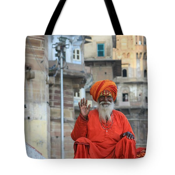 Indian Man Tote Bag by Amanda Stadther