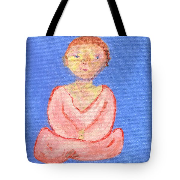 Tote Bag featuring the painting Silence by Beth  Cornell