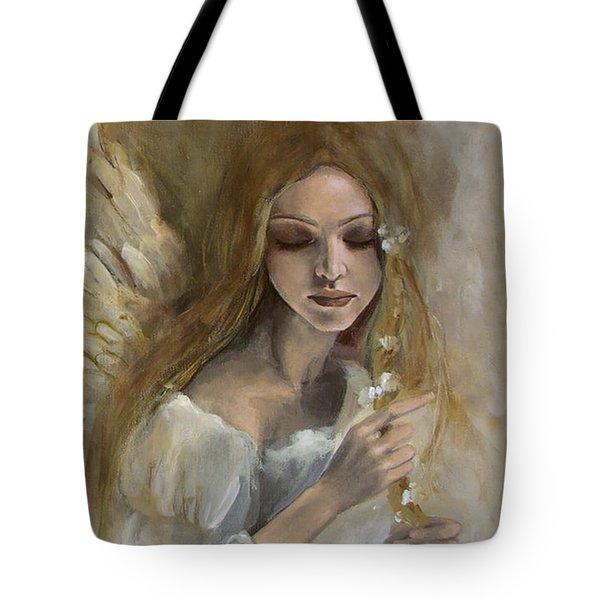 Silence Tote Bag by Dorina  Costras