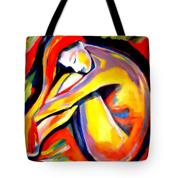 Tote Bag featuring the painting Silence by Helena Wierzbicki