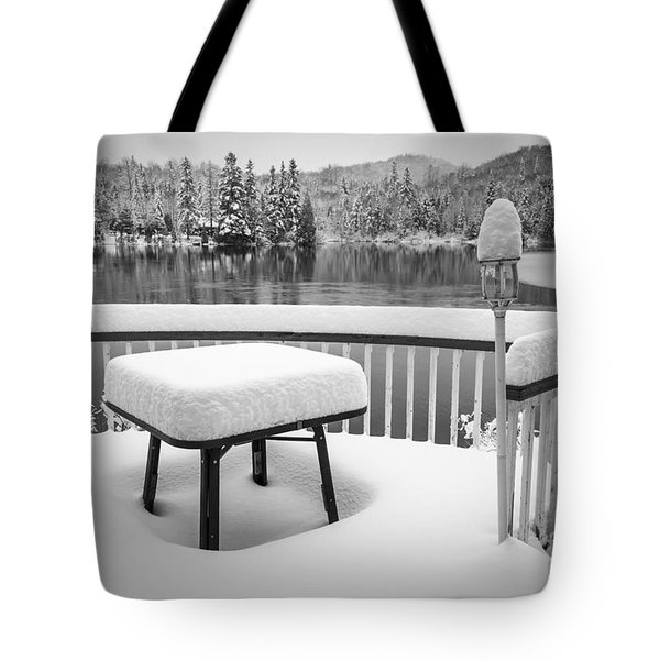 Silence Tote Bag by Jola Martysz