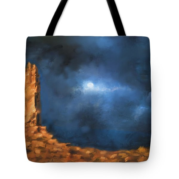 Tote Bag featuring the painting Silence Of The Night by S G