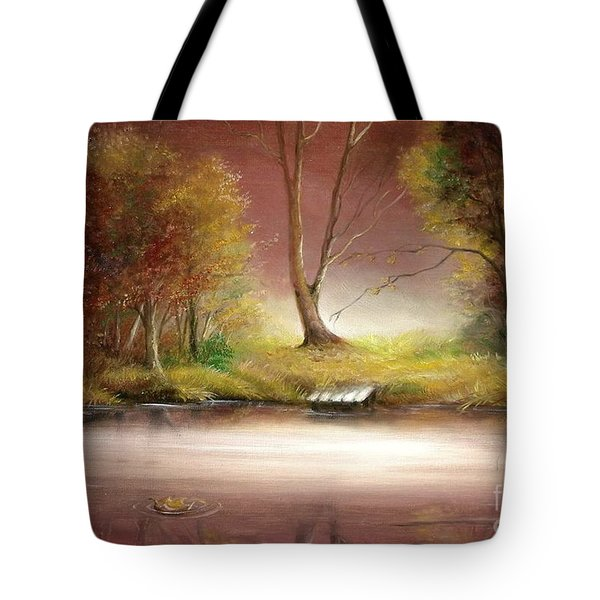 Tote Bag featuring the painting Silence by Sorin Apostolescu