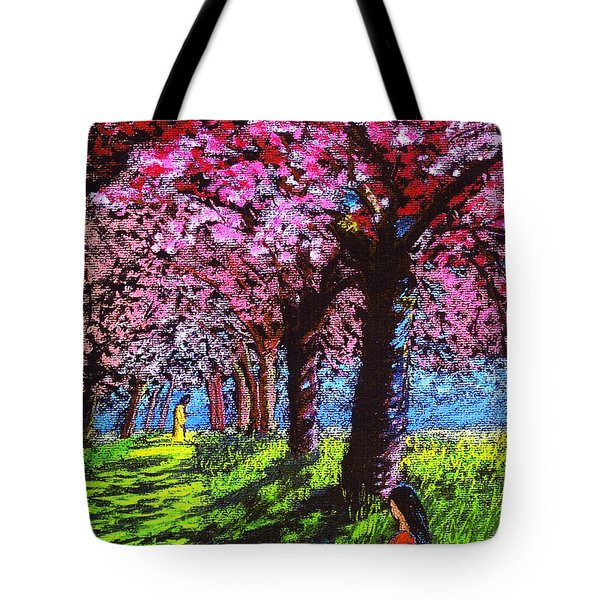 Contemporary Jesus Painting, Silent Communion Tote Bag