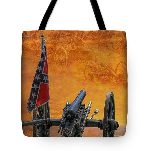 Silent Fields Of Gettysburg Tote Bag