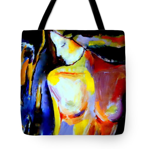 Tote Bag featuring the painting Silent Glow by Helena Wierzbicki