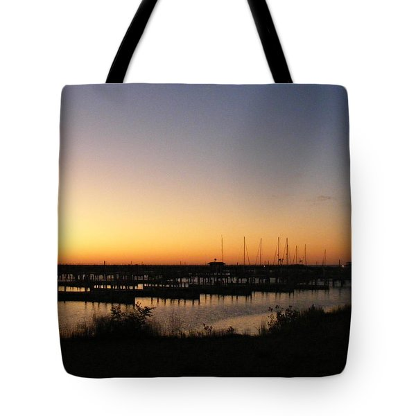 Silent Harbor Tote Bag