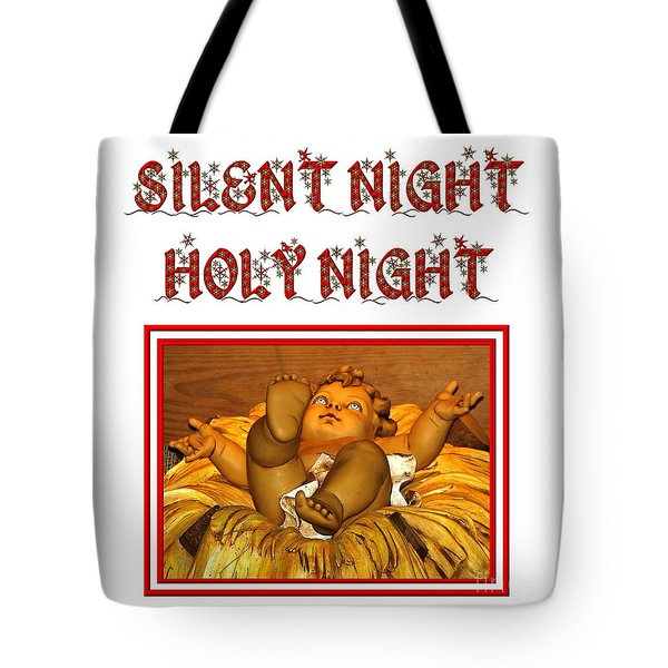 Silent Night Holy Night Tote Bag by Rose Santuci-Sofranko