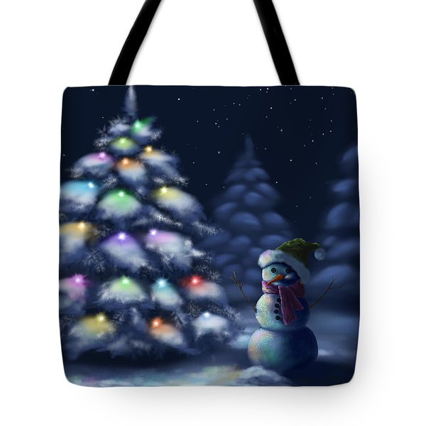 Silent Night Tote Bag by Veronica Minozzi