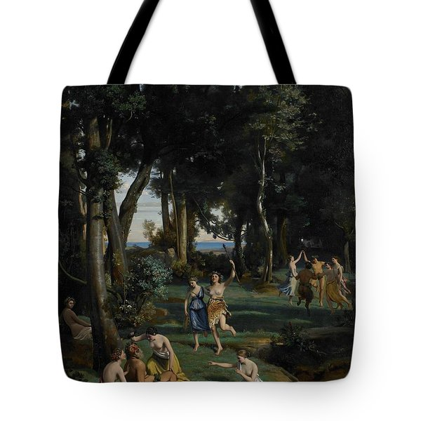 Silenus Tote Bag by Jean Baptiste Camille Corot