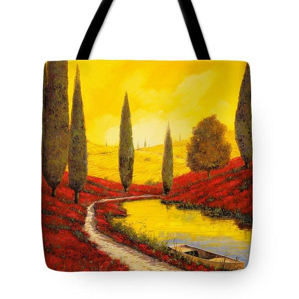 Silenzio Tra I Cipressi Tote Bag by Guido Borelli