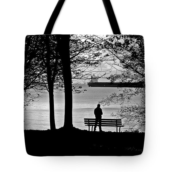 Silhouette At Third Beach Tote Bag