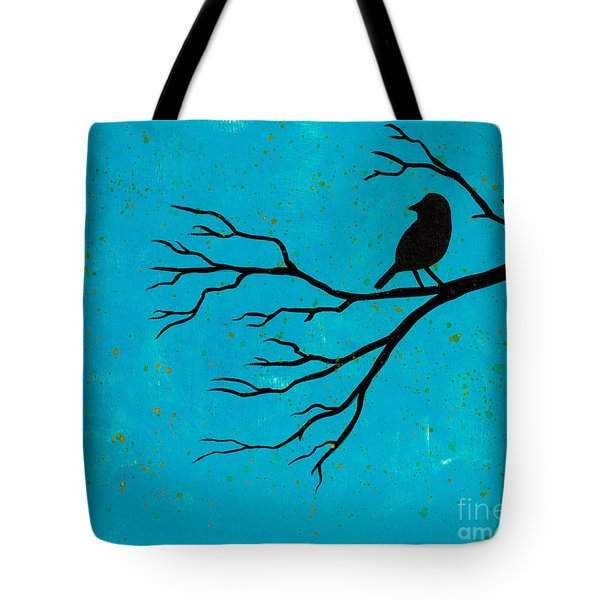 Silhouette Blue Tote Bag by Stefanie Forck