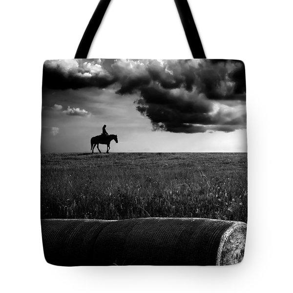 Silhouette Bw Tote Bag