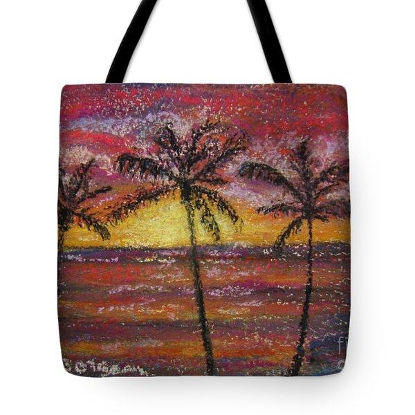 Island Silhouette  Tote Bag