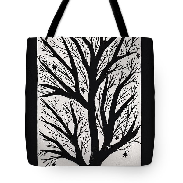 Silhouette Maple Tote Bag by Barbara St Jean