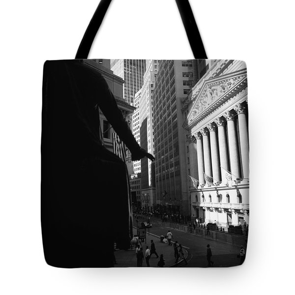 Silhouette Of George Washington Statue Tote Bag