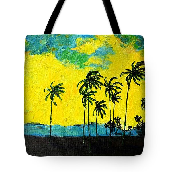 Silhouette Of Nature Tote Bag