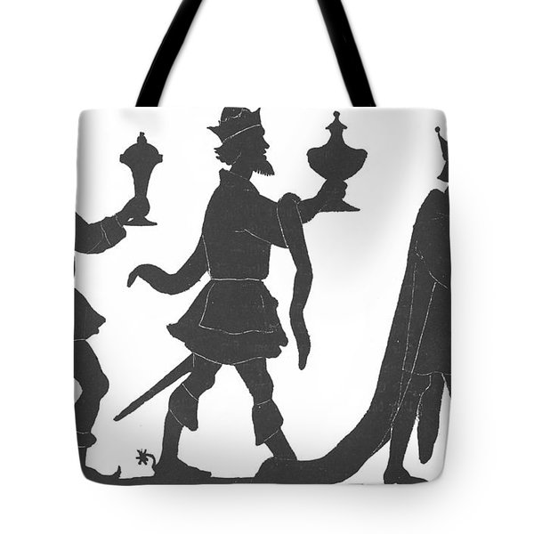 Silhouette Of Three Kings Tote Bag by English School