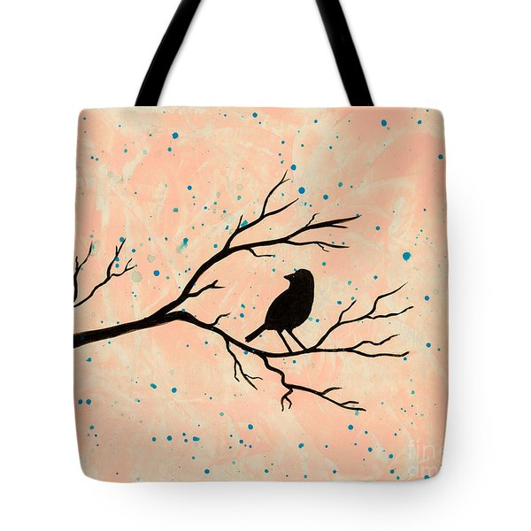 Silhouette Pink Tote Bag by Stefanie Forck