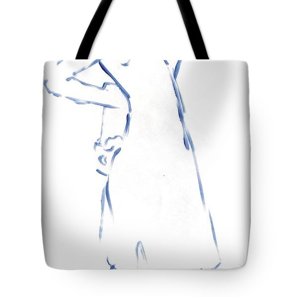 Silhouetted Woman Standing Tote Bag