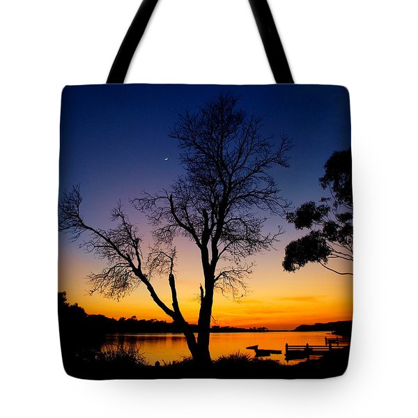 Tote Bag featuring the photograph Silhouettes by Trena Mara