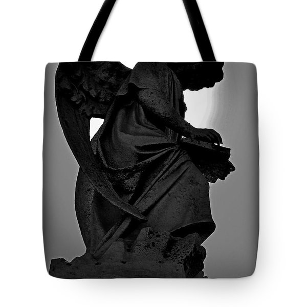 Silhoutte Angel Tote Bag