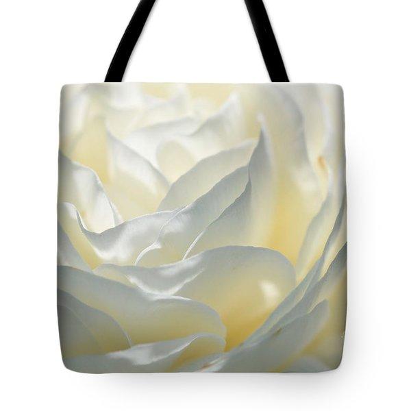 Silk Cream Floral Tote Bag by Elaine Manley