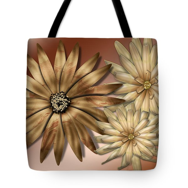 Silk Flowers Tote Bag by Tina M Wenger