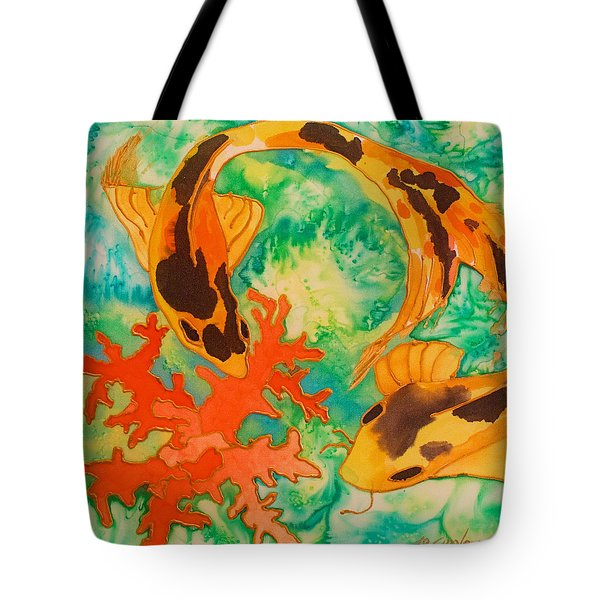 Silk Koi Tote Bag by Joanne Smoley