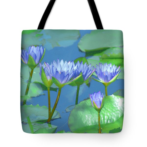 Silken Lilies Tote Bag by Holly Kempe