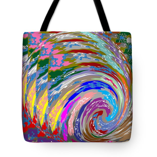 Colorful Fineart Silken Spiral Waves Pattern Decorative Art By Navinjoshi At Fineartamerica.com Tote Bag