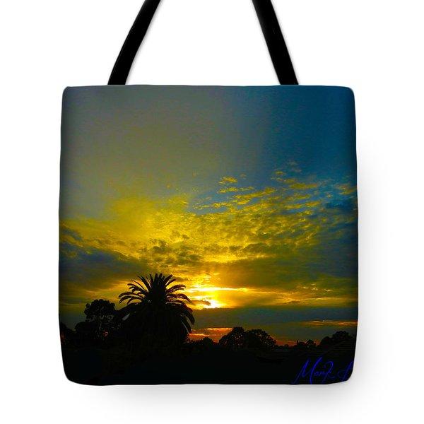Silken Sunset Tote Bag