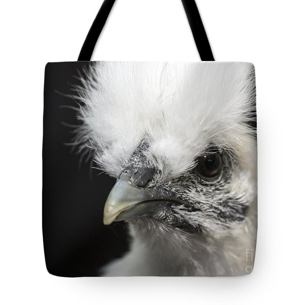 Silkie Chicken Portrait Tote Bag
