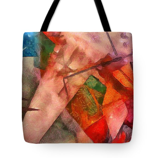 Tote Bag featuring the digital art Silky Abstract by Catherine Lott