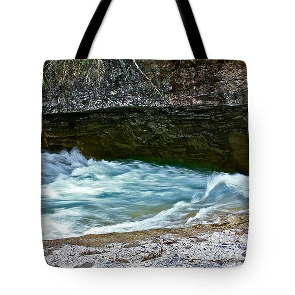 Tote Bag featuring the photograph Silky Flow by Linda Bianic