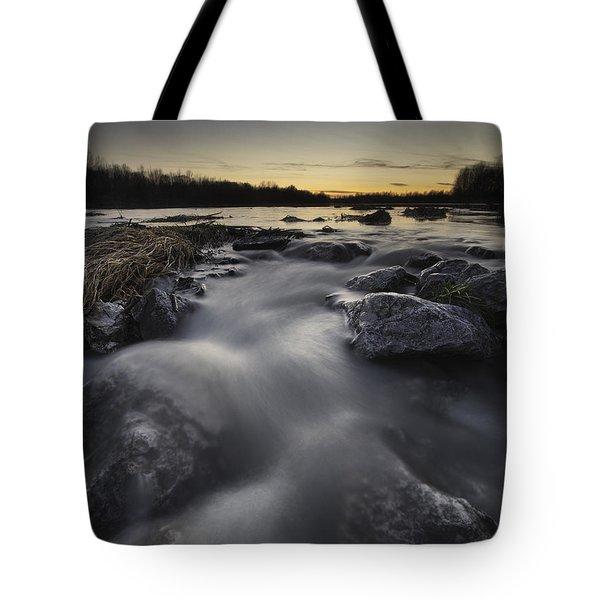 Silky River Tote Bag by Davorin Mance