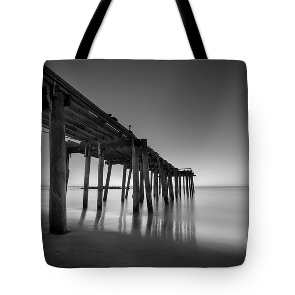Silky Sunrise Black And White Tote Bag