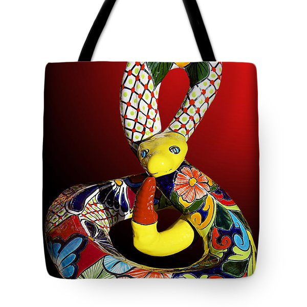 Silly Snake Tote Bag by Phyllis Denton