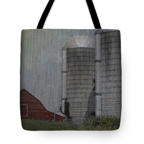 Silo And Barn Tote Bag by Photographic Arts And Design Studio