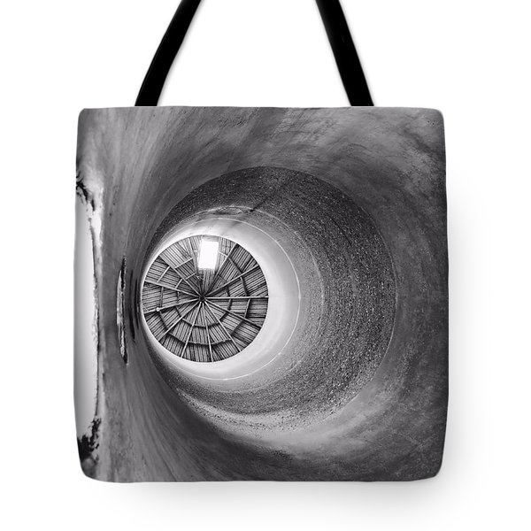 Silo-black And White Tote Bag