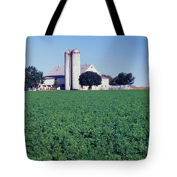 Silo In A Farm, Amish Country, Holmes Tote Bag