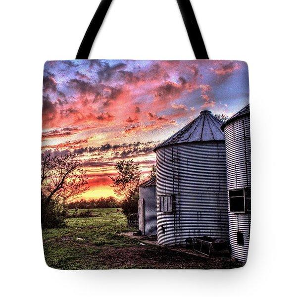 Silo Sunset Tote Bag
