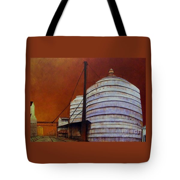 Silos With Sienna Sky Tote Bag by Susan Williams