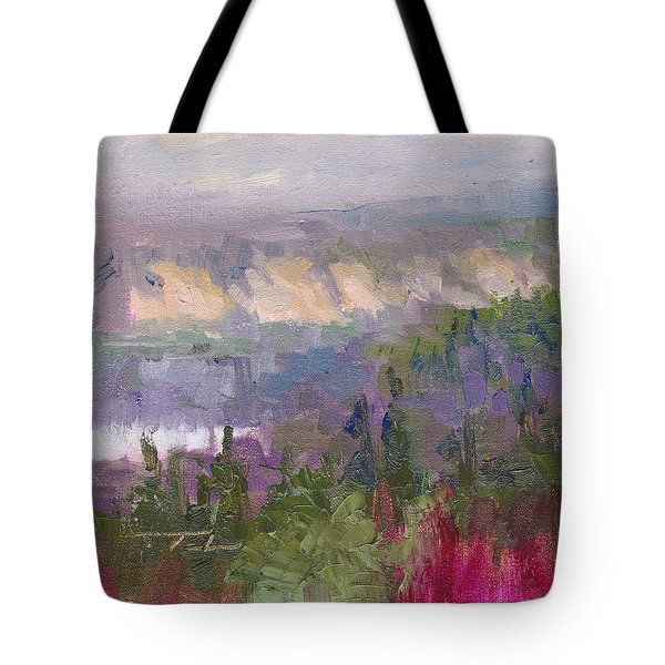 Silver And Gold - Matanuska Canyon Cliffs River Fireweed Tote Bag